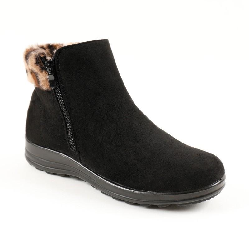 Kotníkové boty se zipem, na podpatku