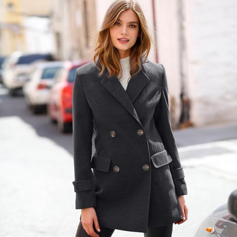 Kabát jednobarevný