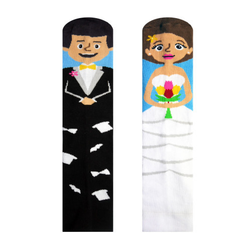 Veselé ponožky Ženich a nevěsta