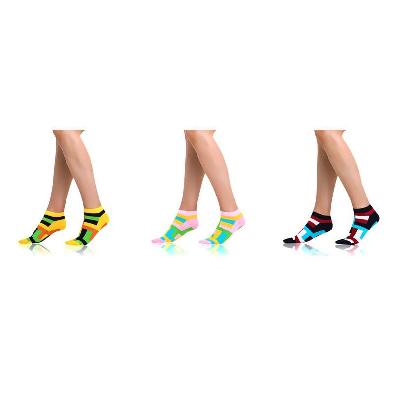 Crazy ponožky kotníkové, sada 3ks