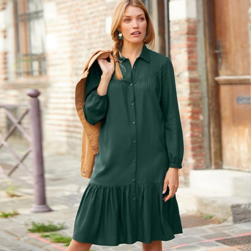 Bavlněné šaty s macramé