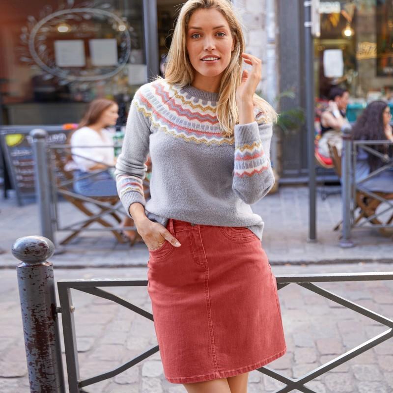 Barevná rozšířená sukně