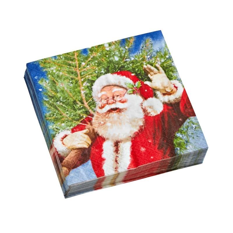 Papierové obrúsky s potlačou Santa Claus