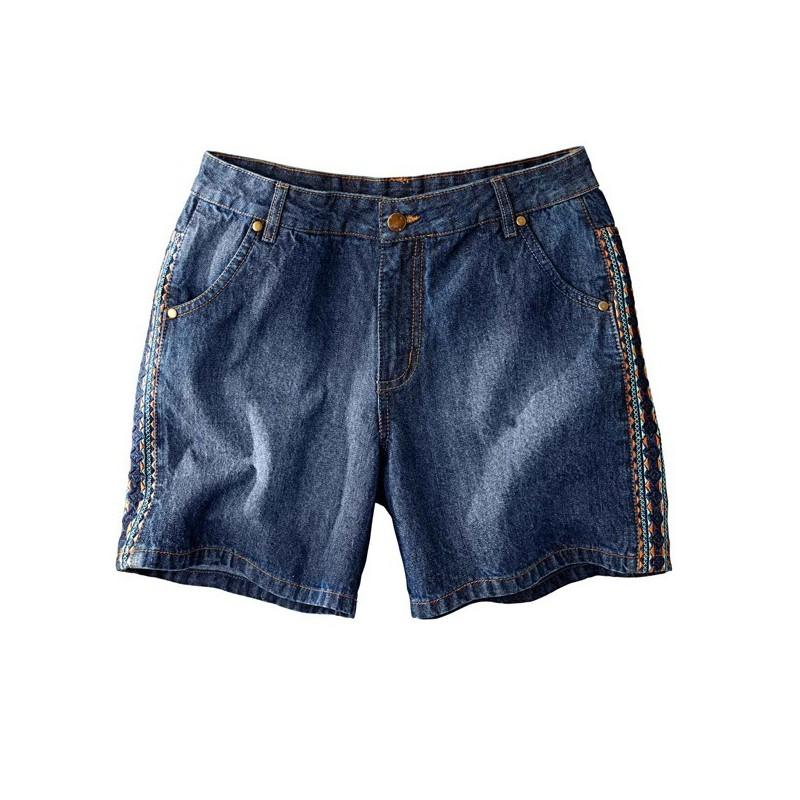Džínsové šortky s výšivkou