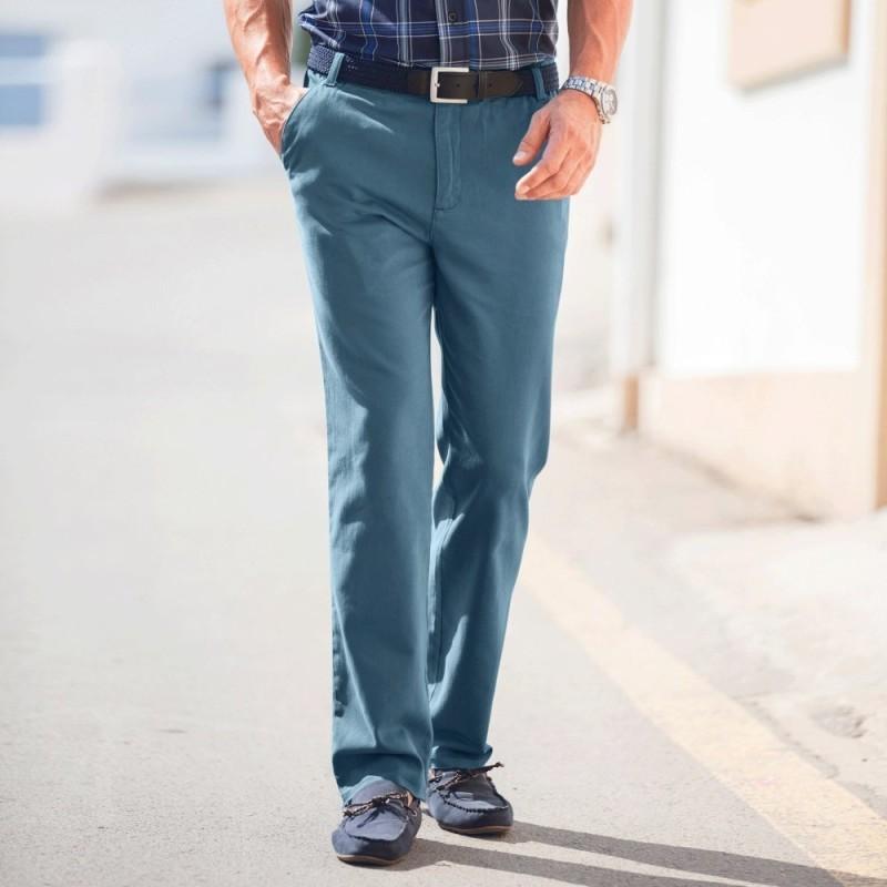 Twillové nohavice bez záševkov