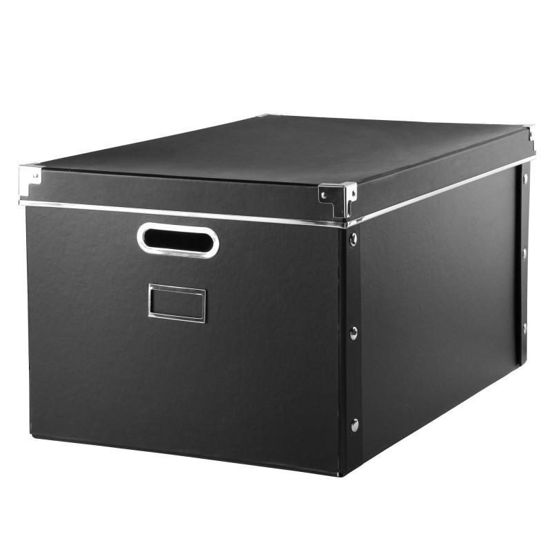 Úložná krabice, černý karton