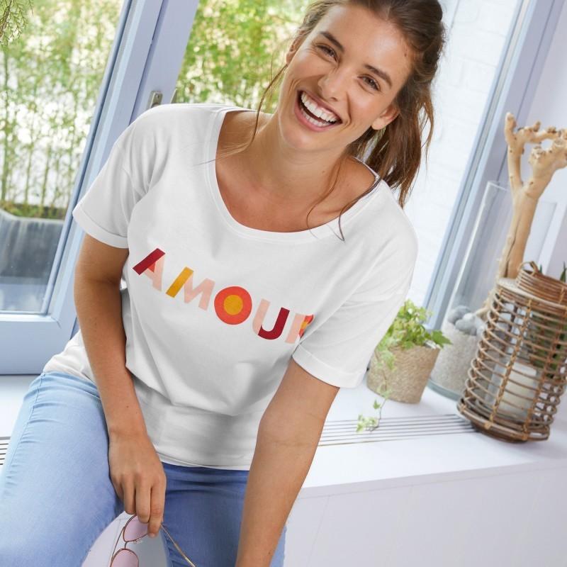 """Dámske tričko s potlačou """"Amour"""""""
