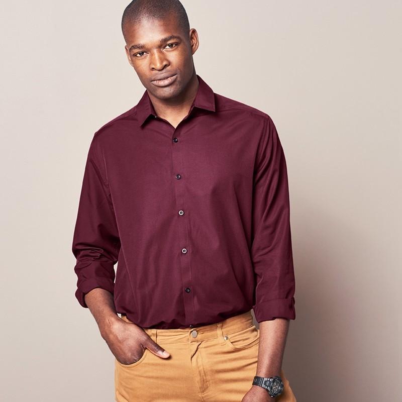 Jednobarevná košile s dlouhými rukávy