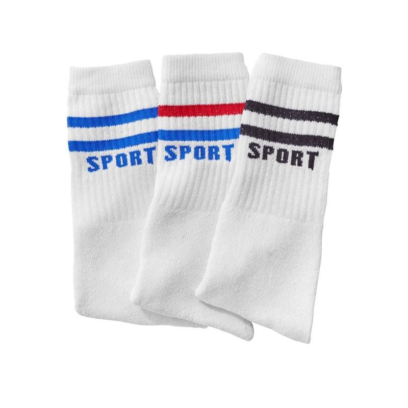 Tenisové ponožky, sada 3 párů