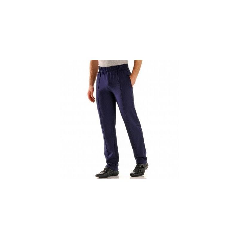 Pánské pohodlné kalhoty s podílem vlny a elastickým pasem