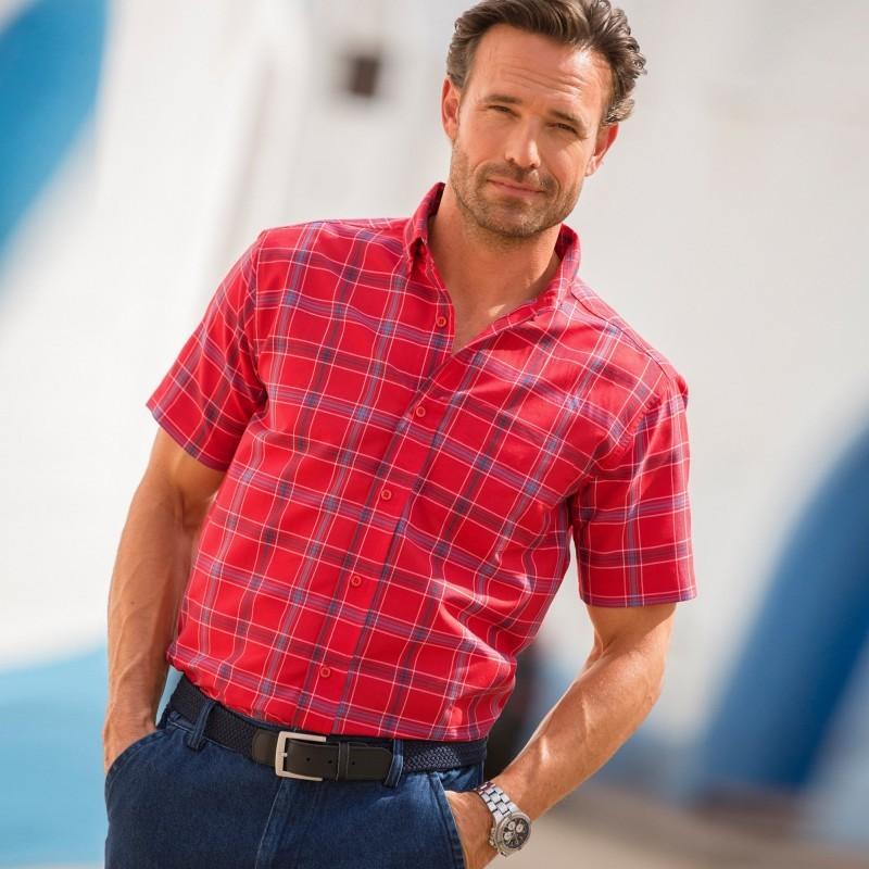 Pánská kostkovaná košile s krátkými rukávy
