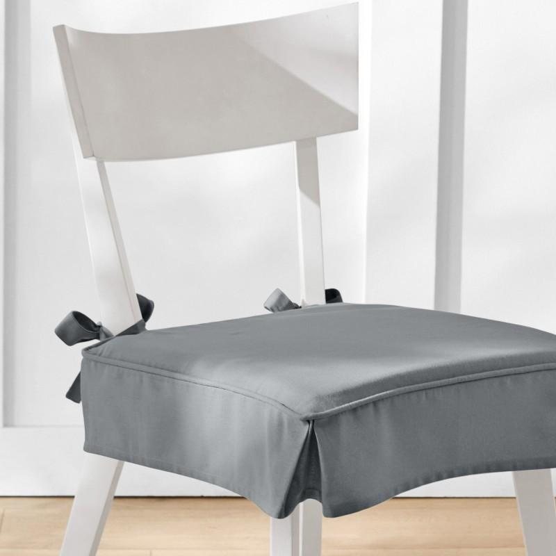 Sedáky na židle, s volánky, sada 2 ks