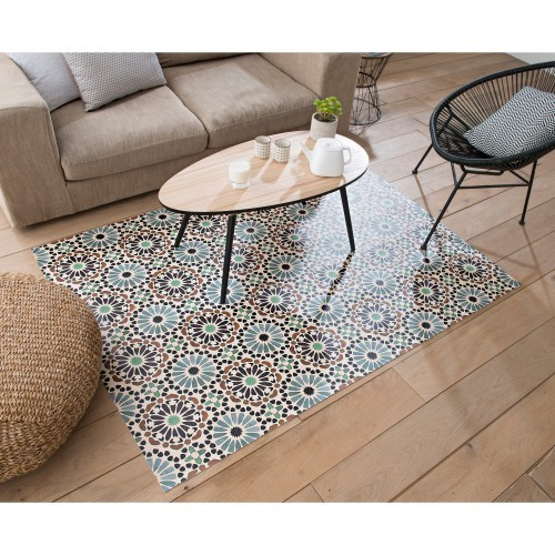 Vinylový koberec s potiskem růžic