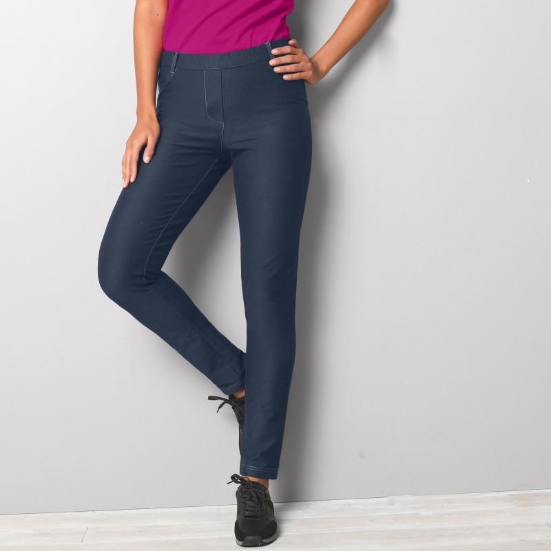 Legínové kalhoty, denimový vzhled