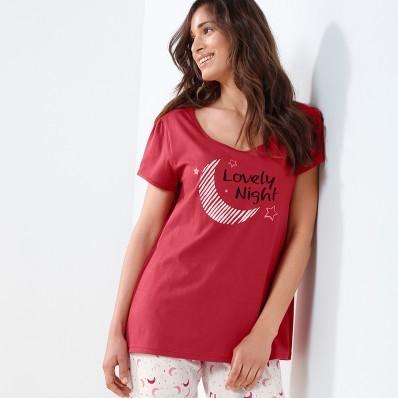 Pyžamové tričko s krátkými rukávy a poti
