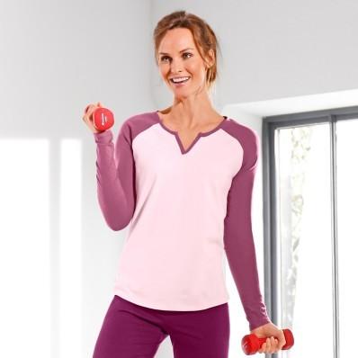 Dvoubarevné tričko s raglánovými rukávy