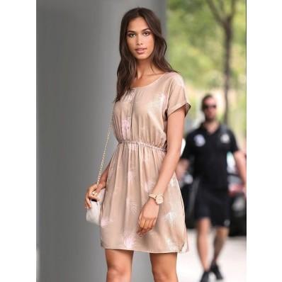 Šaty s potiskem a krátkými rukávy