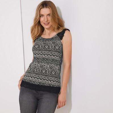 Macramé tričko, etno vzor