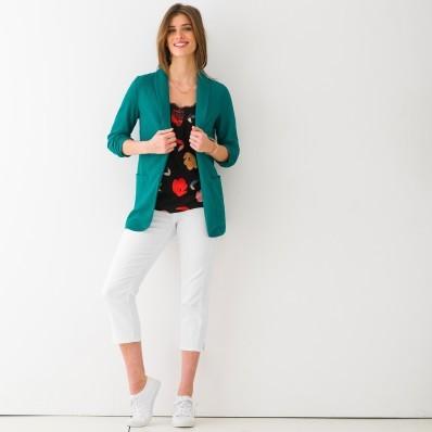 Úpletové jednobarevné sako
