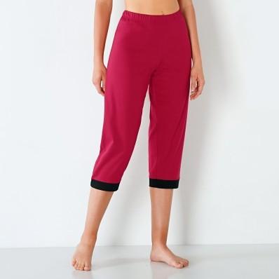 3/4 pyžamové kalhoty, jednobarevné nebo