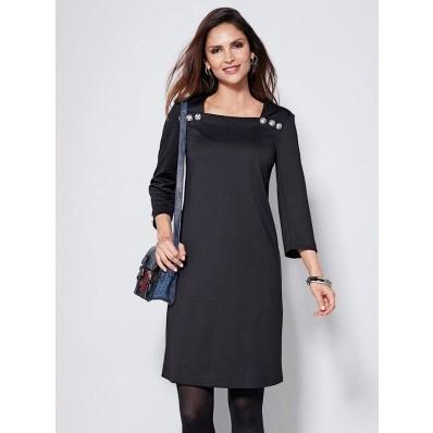 Krátké šaty se 3/4 rukávy a knoflíčky