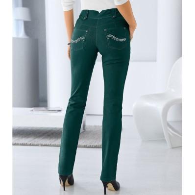 Rovné nohavice s vysokým sťahujúcim páso