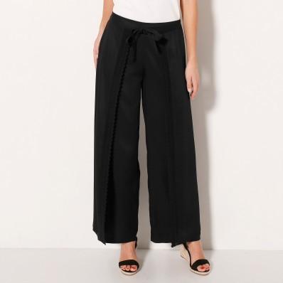 Široké kalhoty s macramé