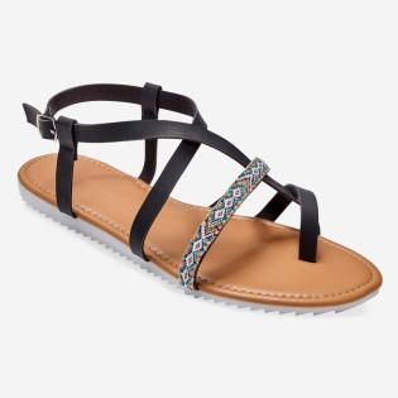 Etno sandále s prekríženými remienkami