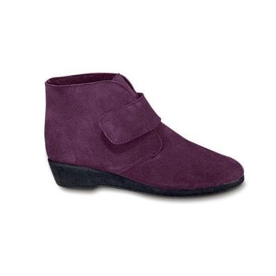 Kožené kotníkové boty na podpatku