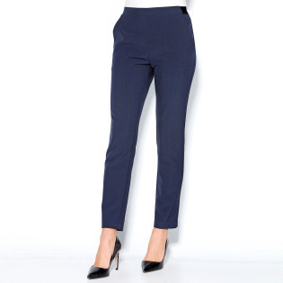 Kalhoty s pružným pasem a záševky