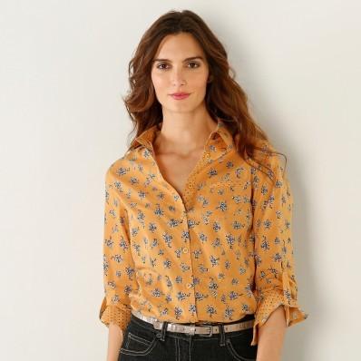 Košeľa s kvetinovou potlačou