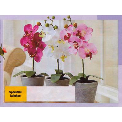 Umělá orchidej - červená