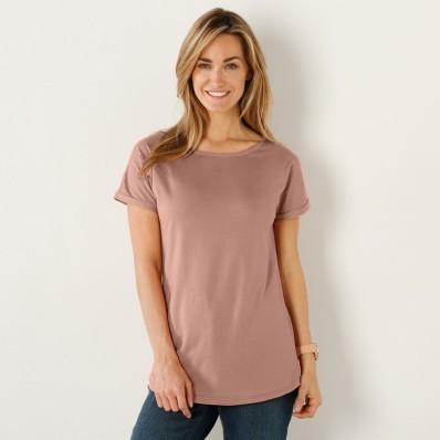 Jednofarebné tričko s krátkymi rukávmi