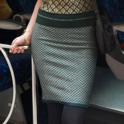 Dámska žakárová sukňa