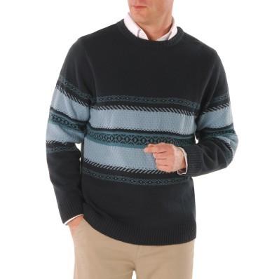 Proužkovaný žakárový svetr