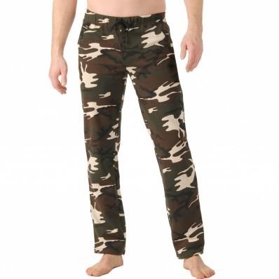 Meltonové kalhoty, rovný spodní lem
