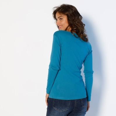Tričko s dlouhým rukávem, jednobarevné