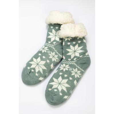 Ponožky zimní, sněhové vločky