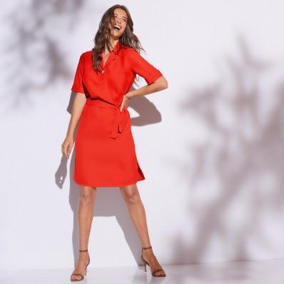 Košeľové šaty jednofarebné